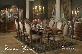 Formal Dining Room Tables Cortina Luxury 7 Piece Traditional Formal Dining Room Set Aico