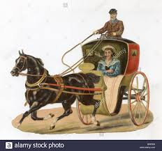 horse drawn carriage victorian era stock photo royalty free