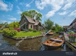 Giethoorn Holland Homes For Sale by Giethoorn Netherlands July 3 View Typical Stock Photo 146541926