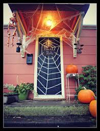 front doors chic front door hallowesen decoration diy halloween