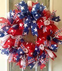 Fourth Of July Door Decorations 370 Best Patriotic Wreaths Images On Pinterest Patriotic Wreath