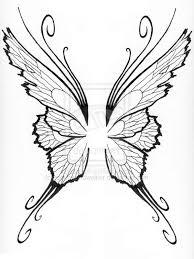 butterfly wings outline open butterfly outline