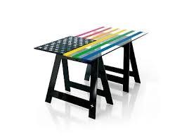plateau verre bureau faggy bureau treteaux un monde de couleurs intérieur plateau verre