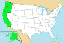 pacific region map usa geography quizzes map