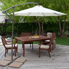 Teak Patio Dining Set - furniture ideas patio dining set with umbrella and wooden deck