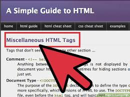 how to learn html with example html code wikihow