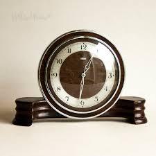 Amazon Mantle Clock Vintage Retro 1930s Art Deco Metamec Wooden Wind Up Clockwork