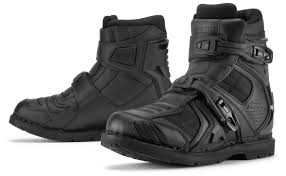 waterproof leather motorcycle boots icon field armor 2 boots revzilla