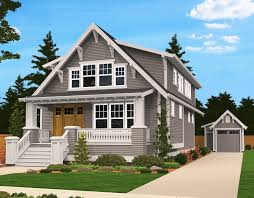 hillside house plans for sloping lots plan 85058ms handsome bungalow house plan bungalow lofts and