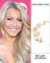 light ash blonde clip in hair extensions 16 22 light ash blonde body wave micro loop 100 remy hair human