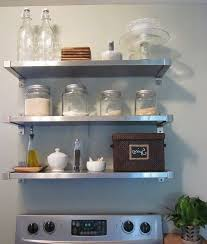 Stainless Steel Kitchen Backsplash With Shelf Stainless Steel Shelves Subway Tile Backspla Grey Marble Table