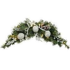 pre lit arch garland decoration white led lights frosted