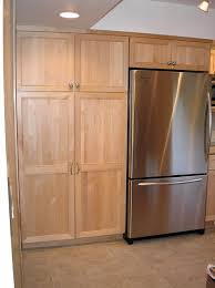 Kitchen Cabinet Refrigerator Pantry Cabinets And Refrigerator