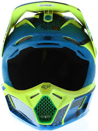 childrens motocross helmet fox blue green 2016 v3 division kids mx helmet fox