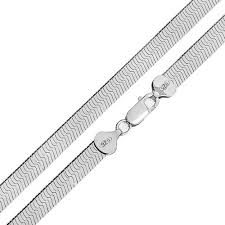 necklace chain sterling silver images 925 sterling silver 080 flexible herringbone necklace 8mm jpg