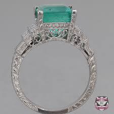 emerald antique rings images Antique emerald rings art deco emerald engagement ring jpg