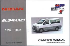 nissan elgrand accessories australia jpnz nissan elgrand e50 vg33e u0026 qd32eti 1997 2002 workshop manual
