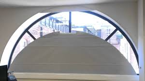 finnestra window shading motorised shaped bottom up roller blind