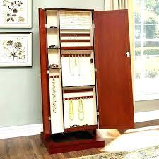 Jewelry Storage Cabinet Jewelry Mirror Stand Premium White Mirror Jewelry Cabinet Box