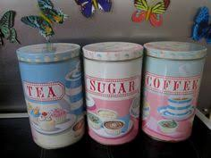 cupcake canisters for kitchen whitby retro vintage tea coffee sugar red green cream storage jars