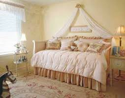 Bedroom Decorating Ideas Yellow Wall Pink Comforter And Floral Carpet For English Country Bedroom