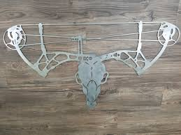 deer skull with bow antlers home decorhunting bow hunting