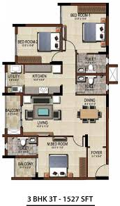 3 bhk apartment floor plan salarpuria sattva east crest floor plans for 1 2 3 bhk