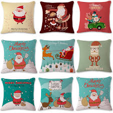 Christmas Decorative Pillow Cases by Vintage Christmas Sofa Bed Home Decor Pillow Case Cushion Cover