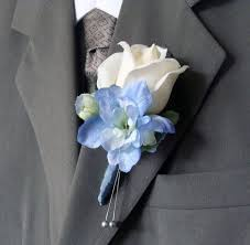 boutineer flowers boutonniere blue and white search starry wedding