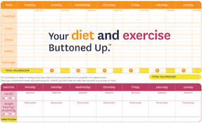 free printable diet u0026 exercise worksheet buttoned up