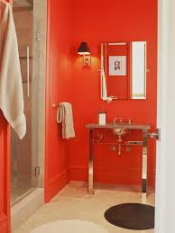 transform red bathroom for your interior home ideas color with red