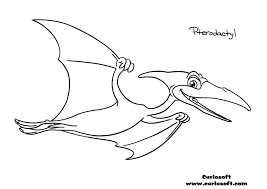 pterodactyl coloring pages getcoloringpages com