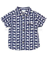 elephant blouse maman bebe elephant shirt navy