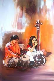 indin concert classic painting oil painting indian art