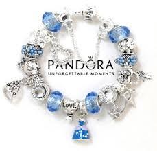bracelet charms ebay images Pandora bracelet silver disney princess cinderella european charms jpg