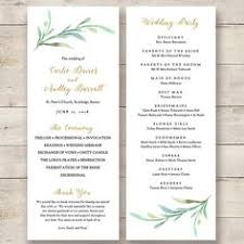 sle wedding programs templates free wedding program template instant bohemian floral wedding