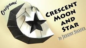 Green Flag With Star And Moon Origami Moon And Star Youtube