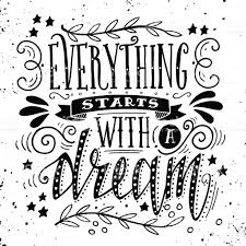 Mexican Flag Eagle Everything Starts With A Dream Quote Hand Drawn Illustration Stock
