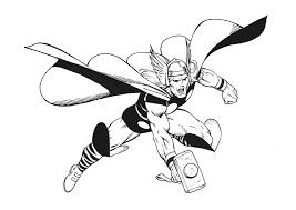 Thor06  Coloriage de Thor  Coloriages pour enfants