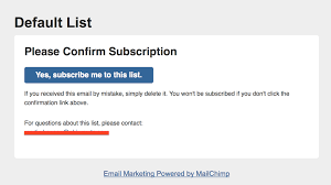 mailchimp confirm subscription template choice image templates