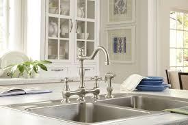 Deck Mount Kitchen Faucet Danze D404557 Opulence Deck Mount Kitchen Sink Faucet With Sidespray