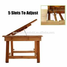 multifunctional bamboo laptop desk table stand breakfast serving