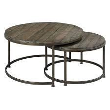 round nesting coffee table hammary leone round nesting cocktail tables hayneedle