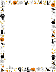 halloween background with border halloween background border clipartsgram com