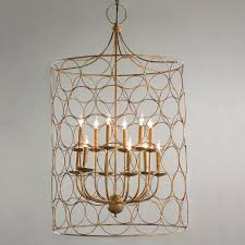 circle cage candles chandelier shades light
