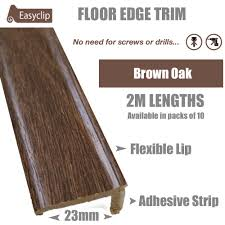 Flexible Laminate Flooring Brown Oak Edge Adhesive Trim 10 X 2mtr Lengths Bridge Gap Between