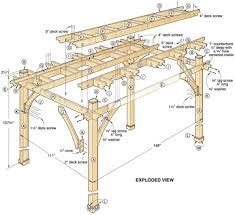 Pergola Design Software by Build To Suit Pergola Woodworking Plan Outdoor Spaces