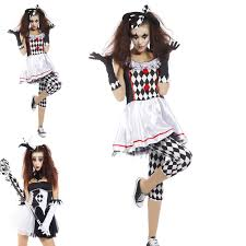 halloween horror nights 2016 upc code harlequin jester ladies fancy dress halloween circus clown horror