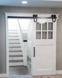 Window Treatments For Small Basement Windows Mini Barn Door Shutters Perfect For Small Spaces Sliding Barn