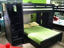 Black Bunk Beds Lake View Black Loft Bed With Stairs Chest Desk For